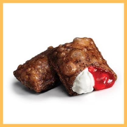 Шоколадный пирожок Клубника-Крем-Чиз