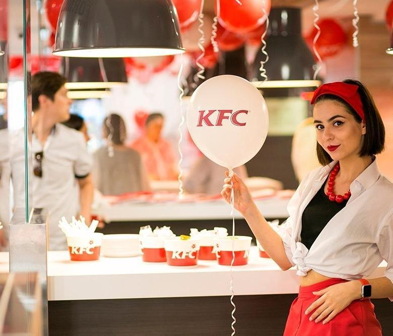 KFC шарик, девушка