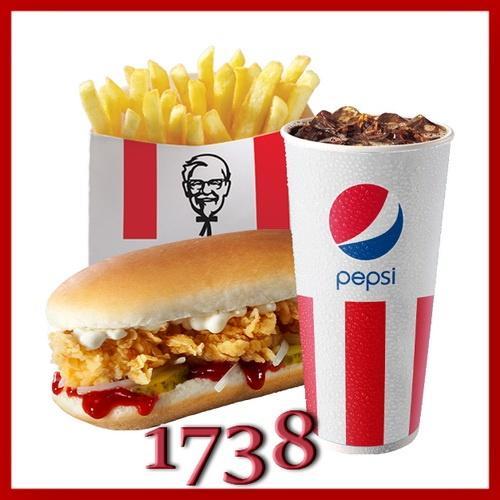 Купон KFC 1738 - Лонгер, картофель, Пепси